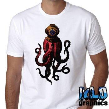2019 la nueva camiseta de la bandera de moda Ocean Scuba Dive Ocean comercial Diver Wreck100 % algodón Humor hombres Camisetas cuello redondo