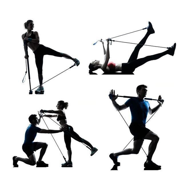 Yoga Pilates Circle Yoga Pilates Stick bar Resistance Bands Set Fitness Equipment Exercise Pilates Ring Body Building Training