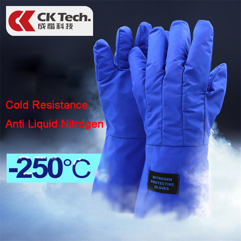 CK Tech. 250 Degree Hypothermia 38cm Protective Gloves Liquid Nitrogen Safety Glove Cold Protection Waterproof Frostbite Gloves