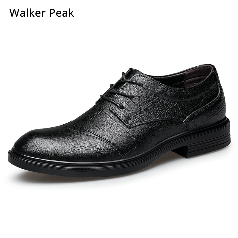 100% Genuine Leather Shoes Men Cow Leather Casual Shoes Male Bussiness High Quality Mens Flats Lace Up Man Footwear Walkerpeak-in Men's Casual Shoes from Shoes    1