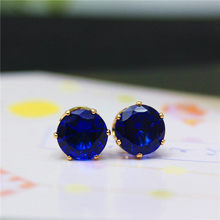 2019 brand jewelry luxury austrian crystal earrings for women gold for women stud earrings for girls gift(China)