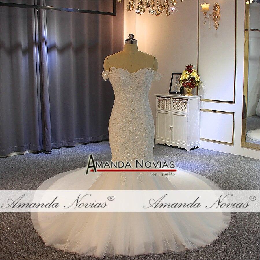 Image 4 - Vestido de novia de sirena con tirantes y hombros descubiertos para bodaVestidos de novia   -
