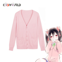 Cosworld LoveLive Cosplay Spring Costume Nico Yazawa Knitted Sweater Japan School Uniform Niko Sweater Top