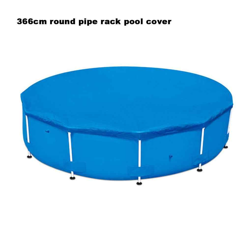 Folding Pool Cover for Round Above Ground Swimming Pools Inflatable Ground  Cloth swimming pool accessory