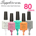 Hot Sale Sapphire Nail Gel Newest 80 Fashion UV Gel Polish 7.3 ML Long Lasting Soak Off Nail Led Gel Polish