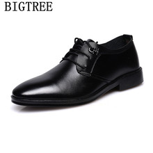 men dress shoes leather business shoes men oxford leather men black shoes zapatos de hombre zapatos de hombre de vestir formal(China)