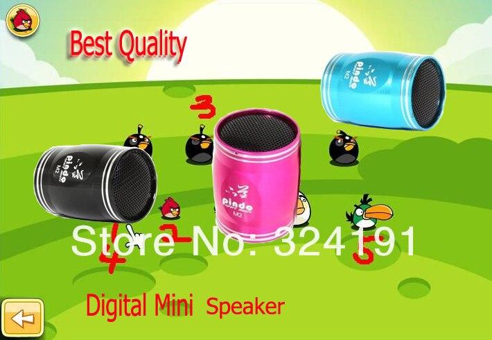Aluminium shell  Mini speaker , stereo mini speaker  SD TF card with FM Radio
