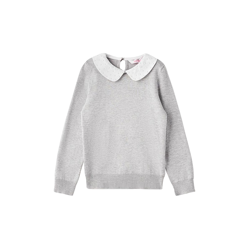 Sweaters MODIS M182K00110 jumper sweater pullover for girls kids clothes children clothes TmallFS children s garment new pattern catamite pleuche sweater suit children motion boy spring and autumn season two pieces kids