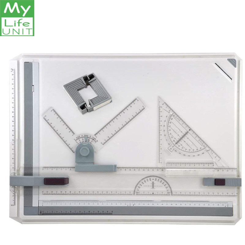 A3 Drawing Board Drafting Board  L design straightedge Drafting T-Square Protractors Assorted Drawing ToolsA3 Drawing Board Drafting Board  L design straightedge Drafting T-Square Protractors Assorted Drawing Tools