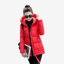 Пуховик новый случайный С Капюшоном Куртка Женщины длинные мода Тонкий большой утолщение зимнее пальто