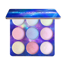 9 Color Glitter Eye Shadow Powder Holographic Makeup Highlighter Palette Shimmer Nude Imagic Eyeshadow Pigment Brighten Natural
