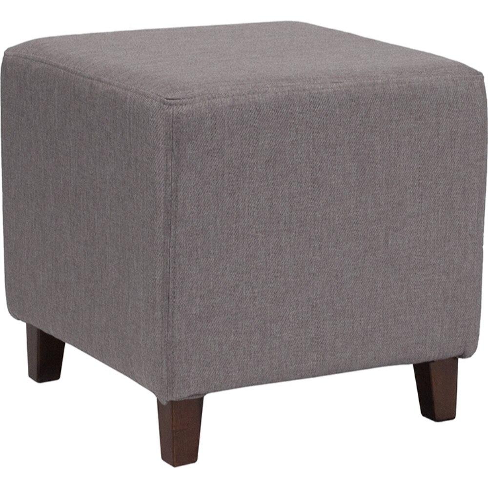 все цены на Ascalon Upholstered Ottoman Pouf in Light Gray Fabric онлайн
