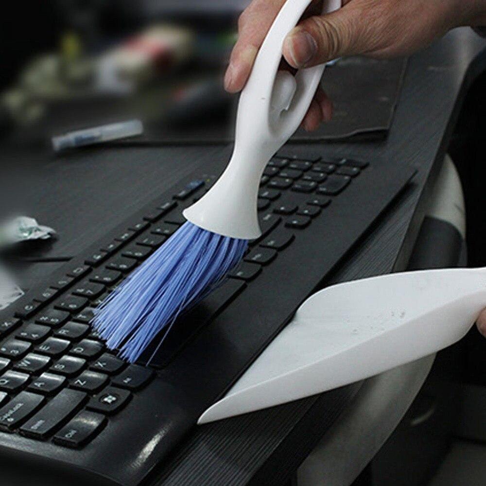 Mini Car Dashboard Vent Cleaner Tool Keyboard&Air Outlet Armrest Brush Dustpan