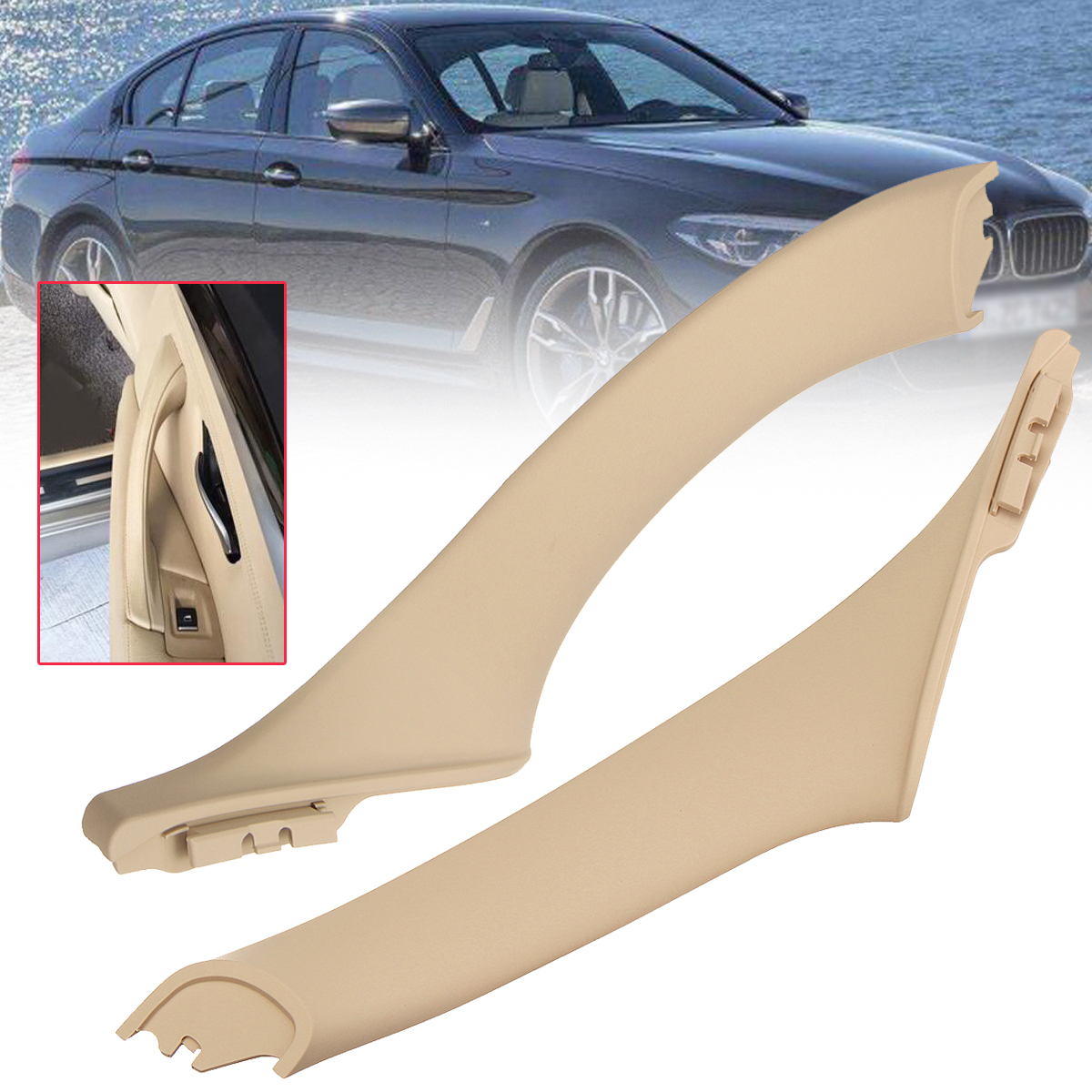 Fiber Door Armrest Window Switch Cover Trim Door Bowl Cover Trim Sticker for BMW F10 5 Series 2011-2018 Paint, Body & Trim Right Interior