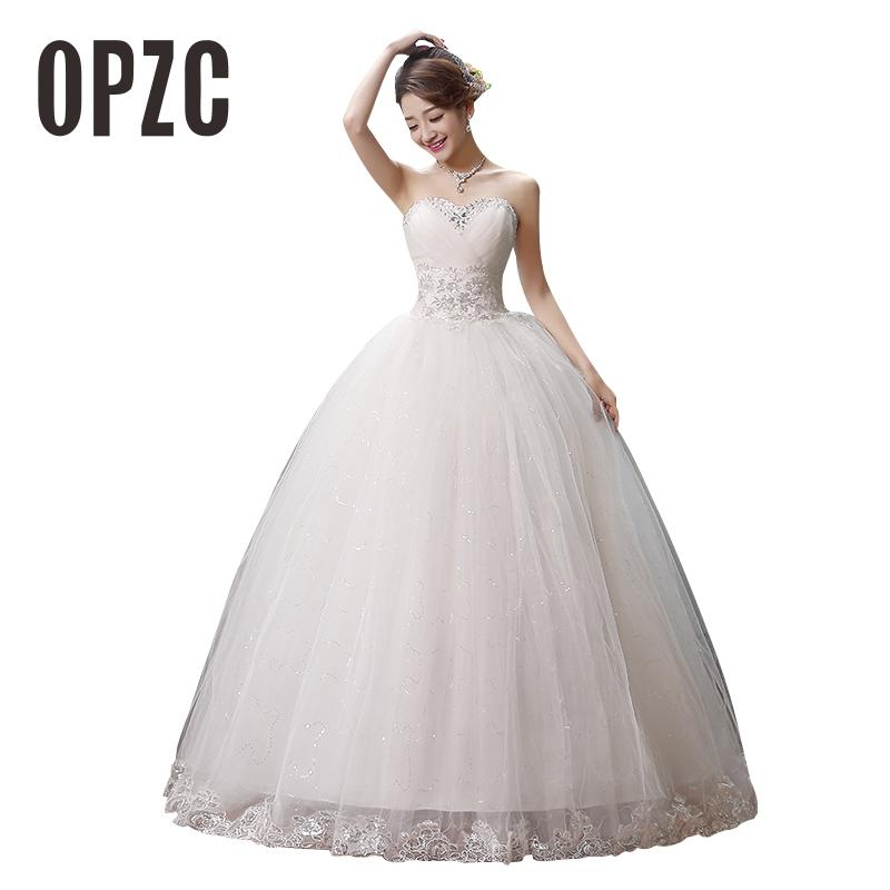 Custom Madeb Fashion Princess Lace With Beading Wedding Dress 2016 Cheap Ball Gown Bridal Gowns vestido