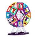 46 шт. Большие Размеры магнитные строительные блоки колесо обозрения кирпич дизайнер прозрачные магнитные секции игрушки Детский подарок н...
