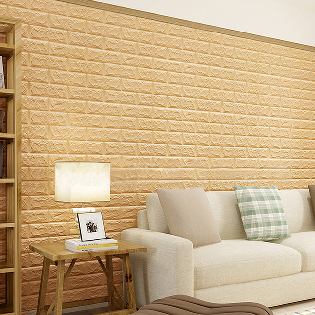 XPE Foam 3D Brick Stereo Wall Stickers Simple And Elegant Home ...