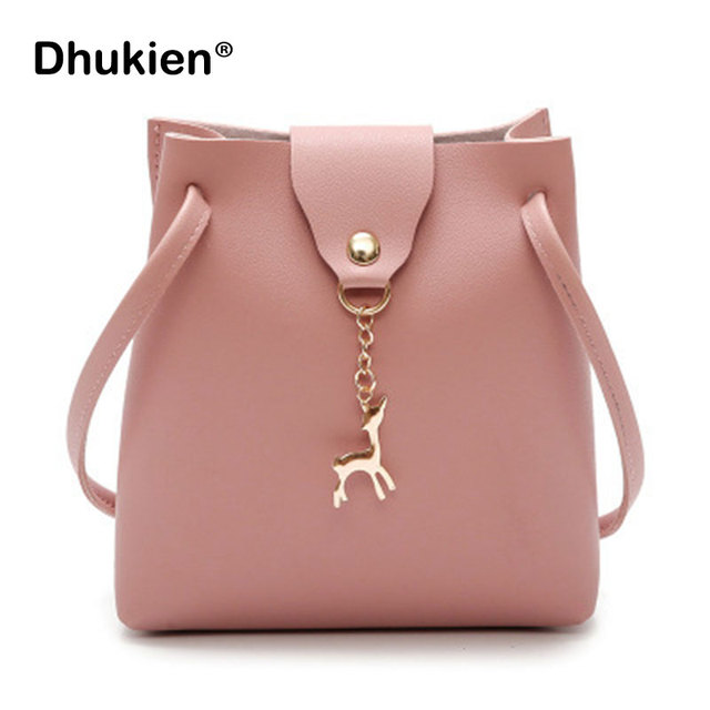 Small Bag Women Deer Bucket Bag Handbags Ladies Satchel Mini Shoulder  Messenger Bags Simple Design Cross Body Bag b0182e4673002