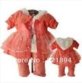 Оформление девочка кружева лук комплект одежды 3 шт. девушка платье костюм шифон дети комплект костюма младенца девушка принцесса платья детская одежда