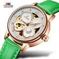 Полые цветочные женские Автоматические механические часы с скелетом розовое золото женские часы наручные часы TEVISE reloj mujer relogio femenino