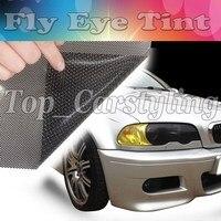 Лучшее! Фар тонировка перфорированной сетки Плёнки как Fly глаз mot юридические оттенок Размеры 1.07x50 м Бесплатная доставка в великобритания