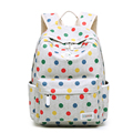 2016 New Fashion Women Polka Dot Canvas Backpack Korean Style Bag Girls Colored Dots School Bags #B