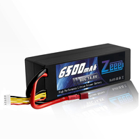 Zeee RC Lipo Battery 14.8V 4S 6500mAh RC Battery Lipo 80C RC Battery With Deans Plug For RC Car Boat Truck Airplane UAV RACING