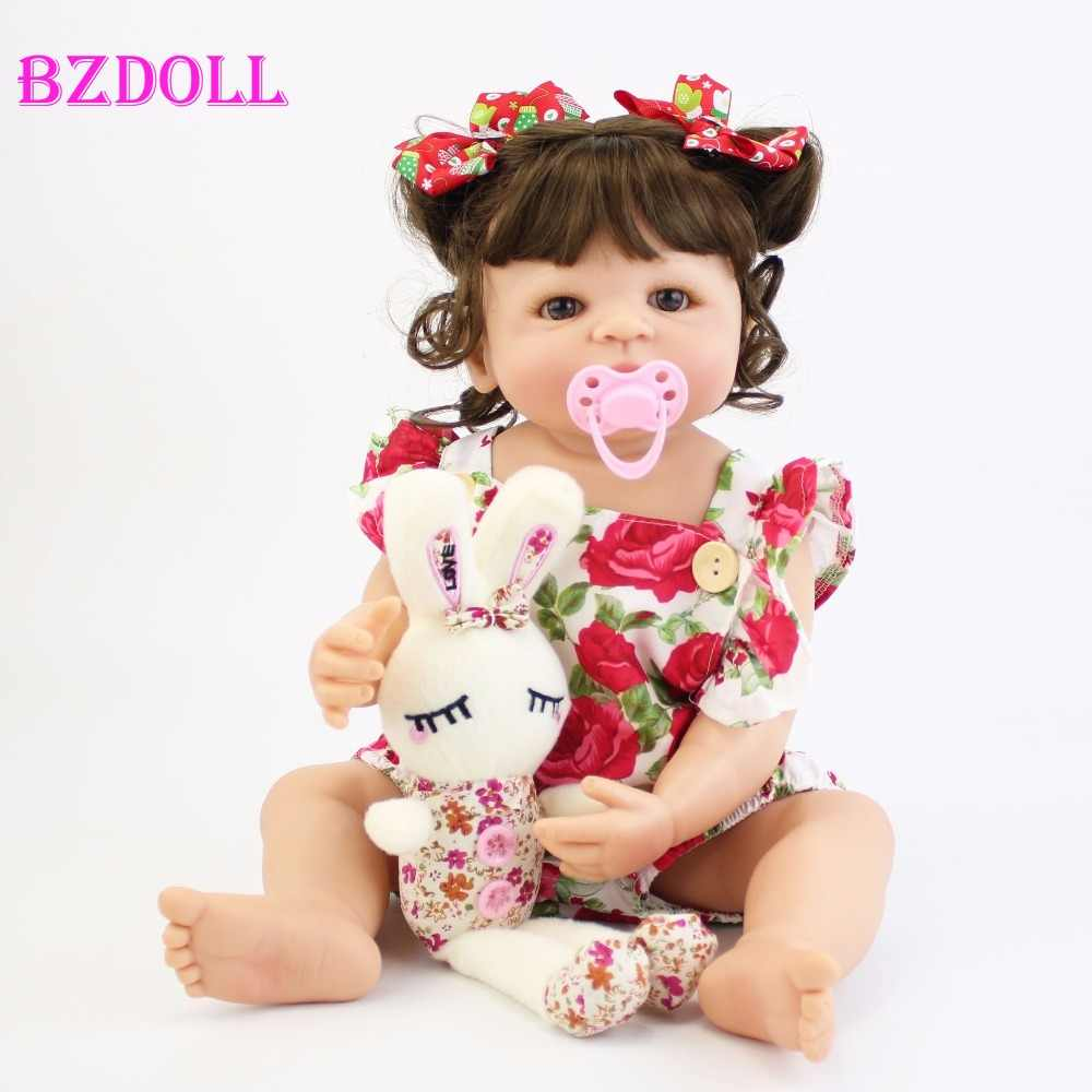 55 см полное Силиконовое боди Reborn Baby Doll игрушка для девочки винил новорожденная принцесса Младенцы Bebe Bathe игрушка-компаньон подарок на день рождения