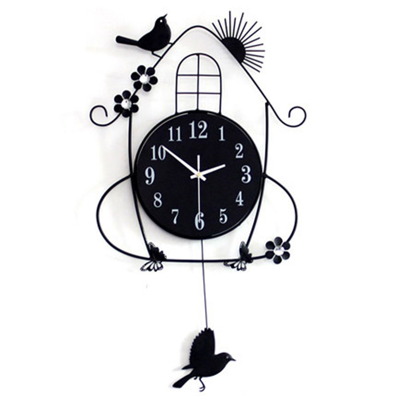 Fashion Bird Digital Wall Clock Modern Design Decorative 3d Diy Kids
