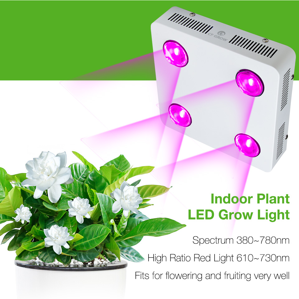 CF Grow 300W 600W COB LED Grow Light Full Spectrum Indoor Hydroponic Greenhouse Plant Growth Lighting Replace UFO Growing Lamp