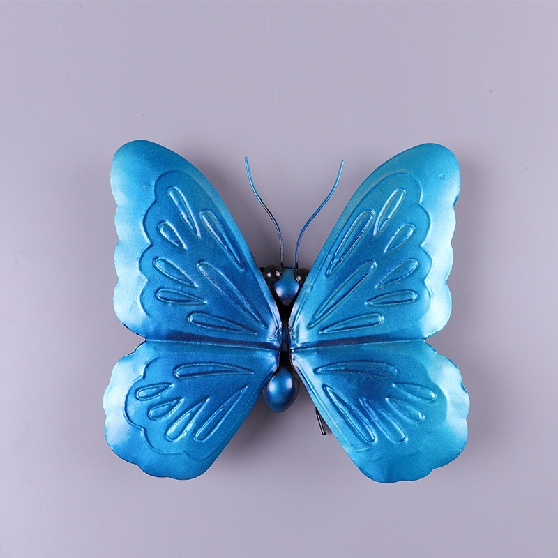 Image 3 - Liffy Miniature Metal  Butterfly Wall Decor Outdoor  for Garden Decoration Animals Jardin Ornaments Yard Decoraitions Statues-in Garden Statues & Sculptures from Home & Garden