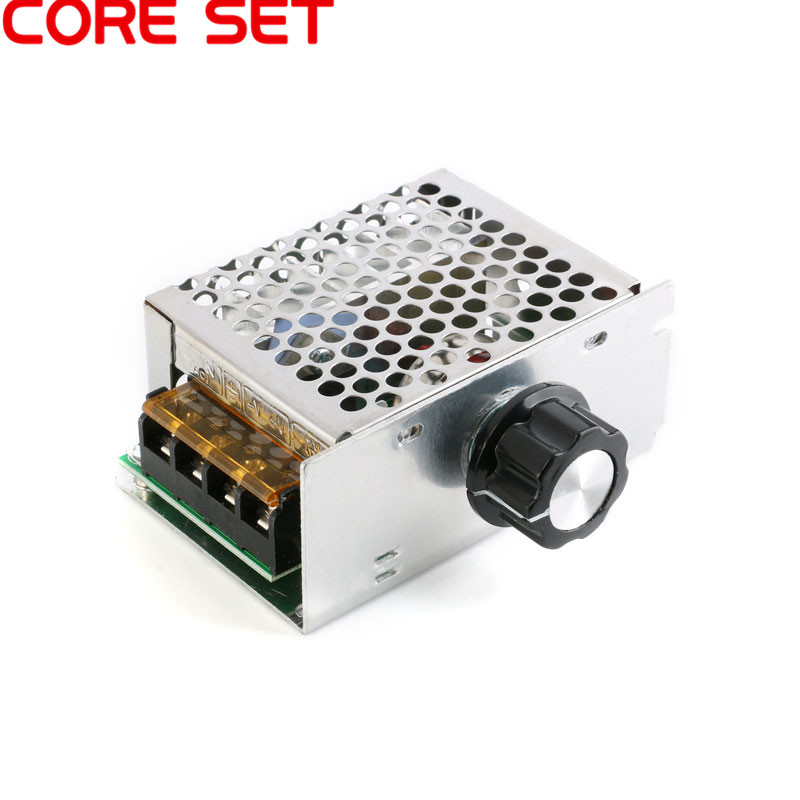 AC <font><b>220V</b></font> 4000W SCR <font><b>Voltage</b></font> <font><b>Regulator</b></font> Dimming Dimmers Motor Speed Controller Thermostat Electronic <font><b>Voltage</b></font> <font><b>Regulator</b></font> Module image