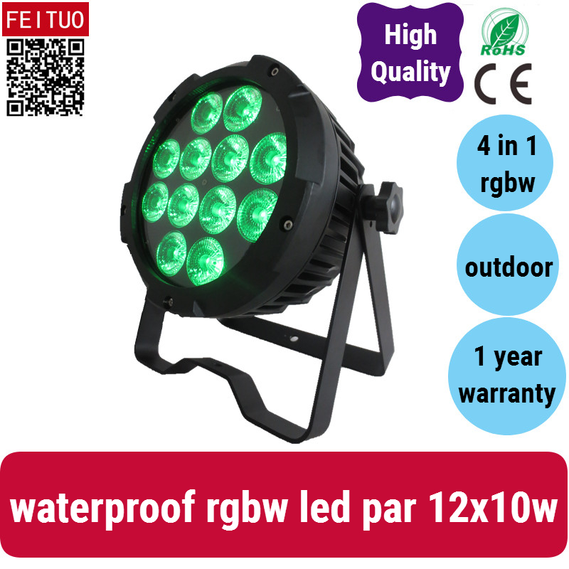 A 30xlot Outdoor uplighting led par wall wash rgbw 10w led flat par 12x10w rgbw 4in1 par led ip 65