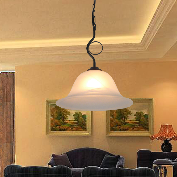 где купить European style iron pendant lights living room lamp bedroom restaurant pastoral art lighting single head pendant lamps ZA по лучшей цене