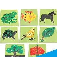 Nette 3D Puzzle Hand Greifen Holz Montessori Baby Kinder Früh Pädagogisches Spielzeug Tiere Pflanzen PaneBoard für childrend