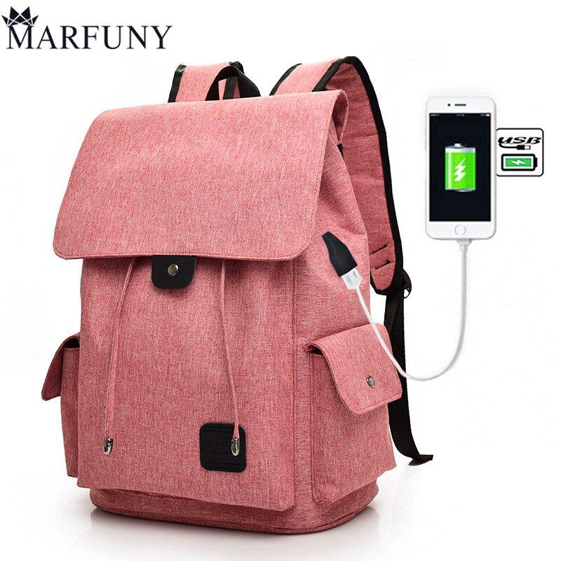 Fashion USB Charging Laptop Backpack For Women Men Backpack SchoolBag Female Mochila Backpacks For Teenage Girls Travel Backpack