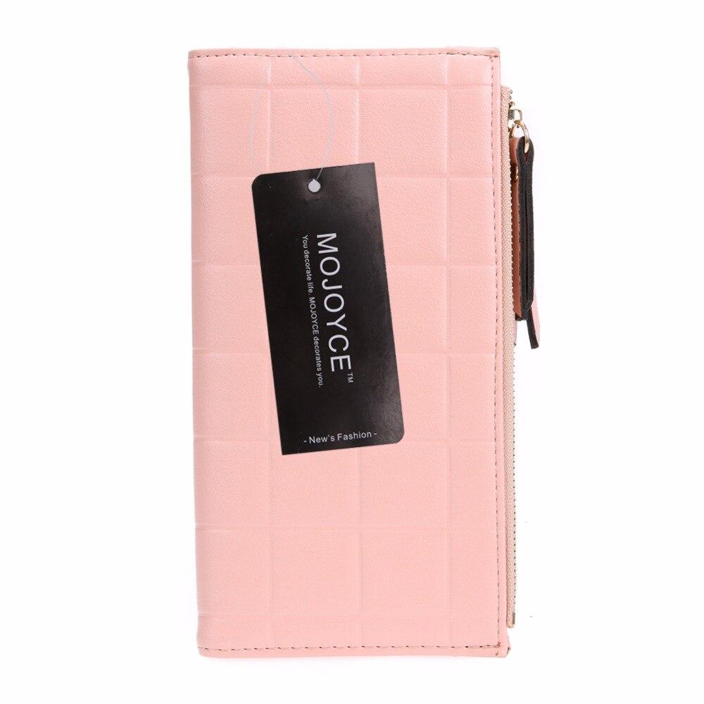 Women PU RFID Anti-magnetic Anti-theft Long Wallet Ladies Zipper Card Coin Holder Female Simple Long Purse Clutch Bag