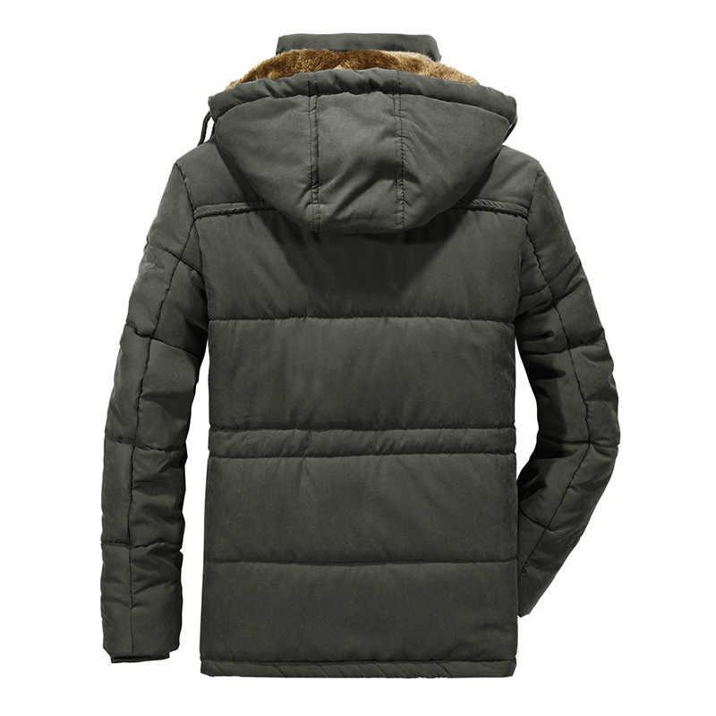 AFS ジープメンズパーカーコート冬のジャケットの男性プラスサイズ 5XL 6XL 7XL 8XL 厚みが詰めジャケット毛皮のフード付きウインドブレーカー