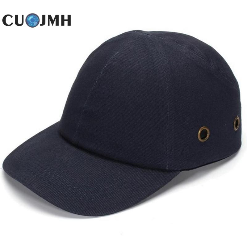 Abs Work Safety Cloth Hat Baseball Bump Caps Lightweight Safety Hat Head Protection Caps Workplace Construction Site Hat casual letter c shape baseball hat