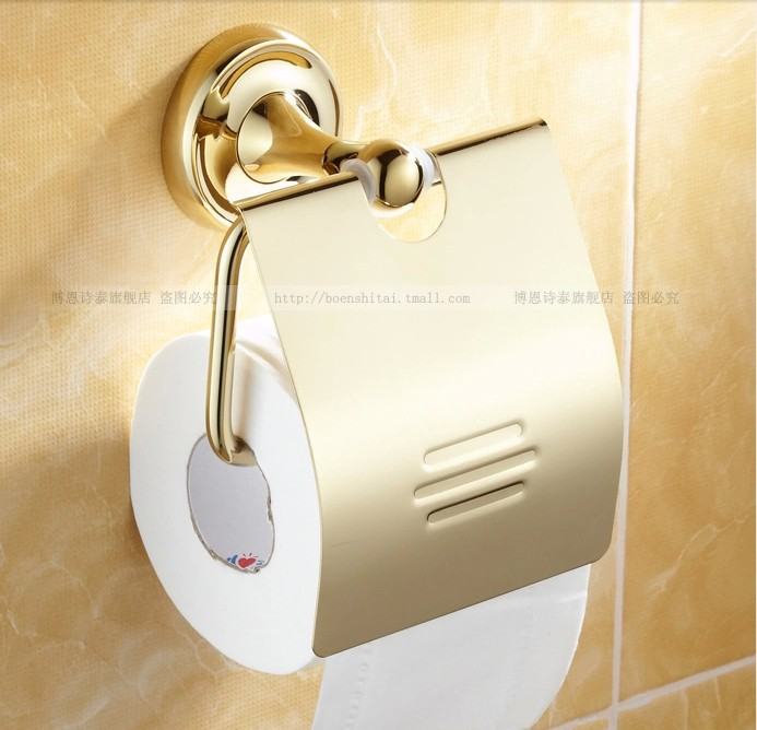 Gold Plated zirconium high quality toilet paper holder-in Paper Holders from Home Improvement on Aliexpress.com | Alibaba Group & Gold Plated zirconium high quality toilet paper holder-in Paper ...