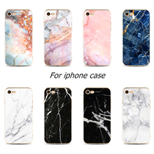 Perciron Case For iphone 5s 5 SE 6 6s 7 8 plus X Granite Scrub Marble Stone image Painted Silicone Phone case