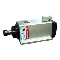 Quadrado 3.5kw refrigerado a ar flange montagem do eixo motor ac220v er20 18000 rpm cnc eixo de trituração
