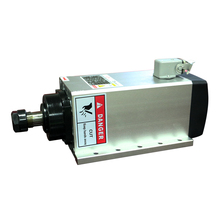 цена на 3.5KW ER20 AC220V Air cooled spindle motor square shape 18000RPM CNC Milling spindle