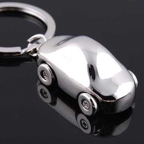Cute Silvery 3d Mini Car Key Rings Keychains Keyfob Pendant