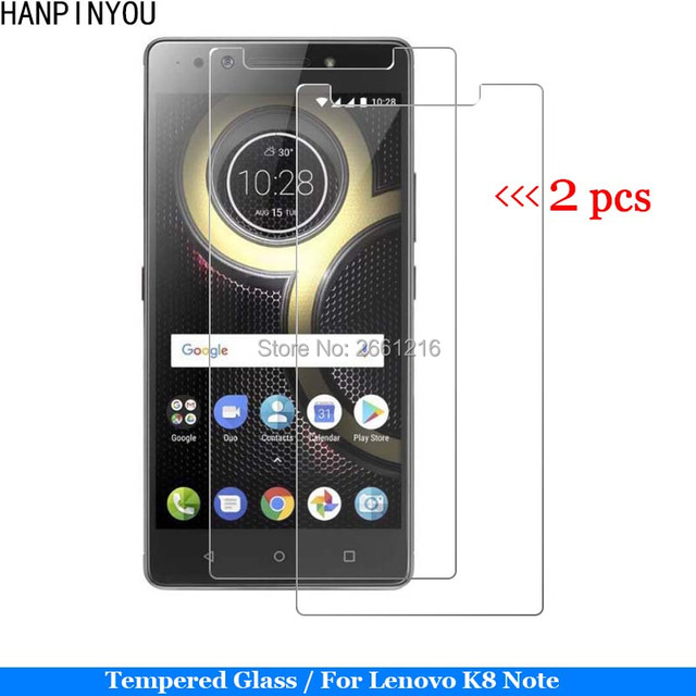 new product 1a74b 34c08 US $1.81 9% OFF|2 Pcs/Lot For Lenovo K8 Note Tempered Glass 9H 2.5D Premium  Screen Protector Film For Lenovo K8note 5.5