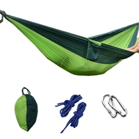 Camping Double Hammock Outdoor Survival Travel Portable Gear Parachute Nylon New W15
