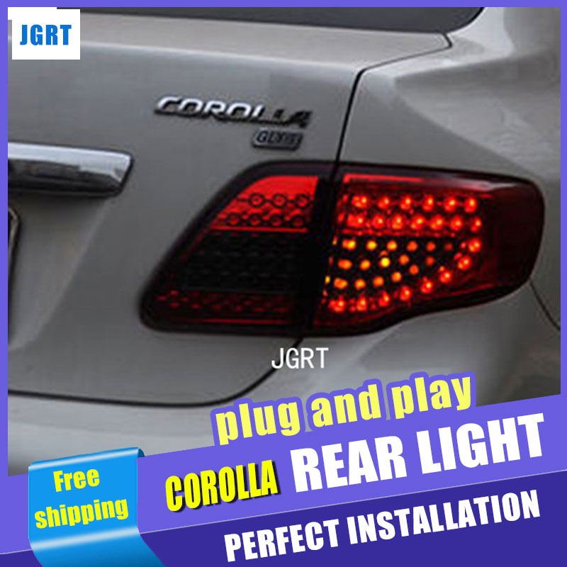 Car Styling for Toyota Corolla Taillight assembly 2007-2010 Altis LED Tail Light Altis Rear Lamp DRL+Brake+Park light with 4pcs. new for toyota altis corolla 2014 led rear bumper light brake light reflector novel design top quality fast shipping