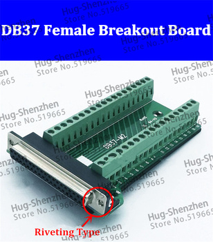 DB37 kobiet moduł sygnału Terminal tabliczka zaciskowa nitowania złącze typu 25 sztuk