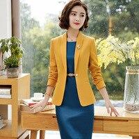 IZICFLY Ladies Special Occasion Formal Dress Set for Women Jacket Uniform Elegant Feminino Business Blazer Dress Suit Plus Size