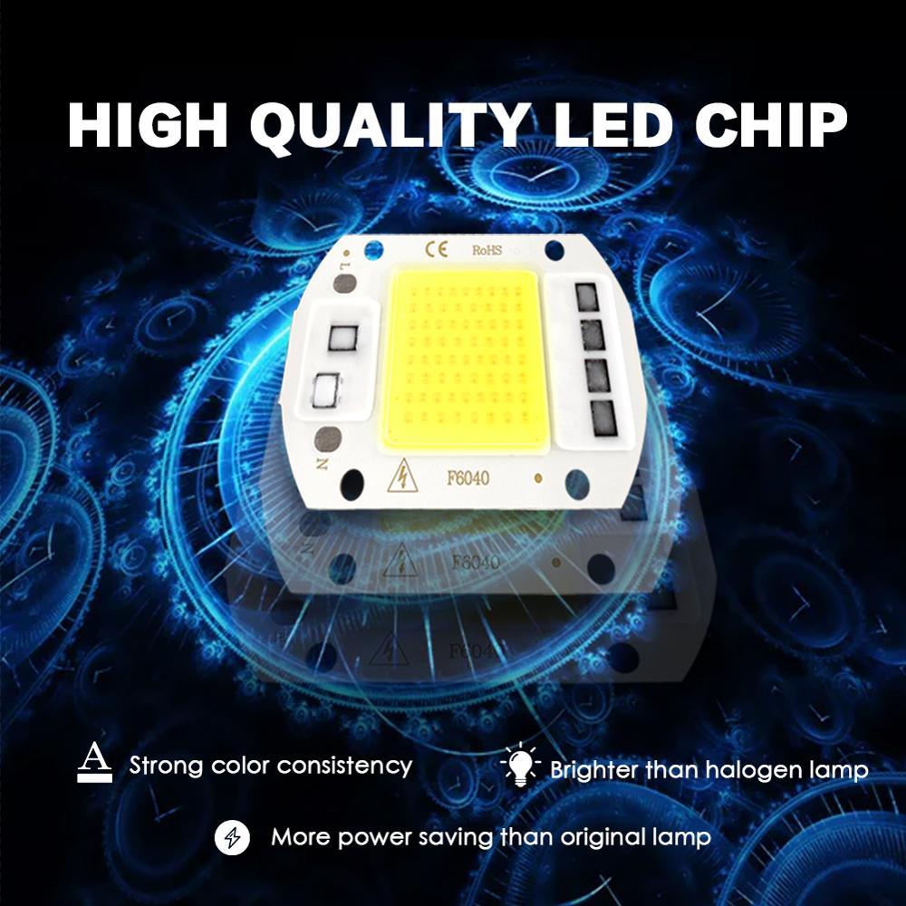 Светодиодный чип COB Smart IC 3 Вт 5 Вт 7 Вт 10 Вт 20 Вт 50 Вт 70 Вт 100 Вт 150 Вт интегрированный 110 В 220 В прожектор светильник без необходимости привода DIY светильник из бисера точечный светильник